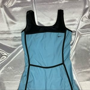 Vintage Baby Blue Nike Unitard